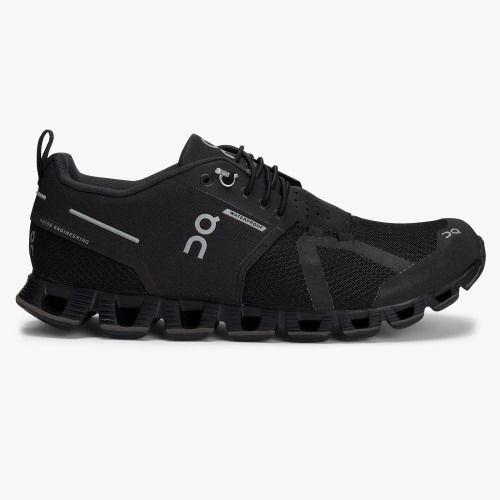 On Cloud Waterproof (black/lunar) Laufschuh Damen