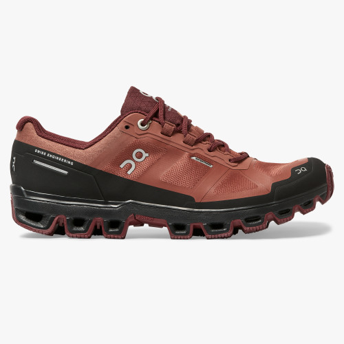 On Cloudventure Waterproof (hazel/mulberry) Laufschuh Damen